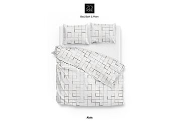 Zo!Home Alois Dekbedovertrek White/Grey