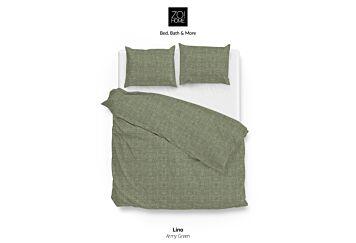 Zo!Home Lino Dekbedovertrek Army Green