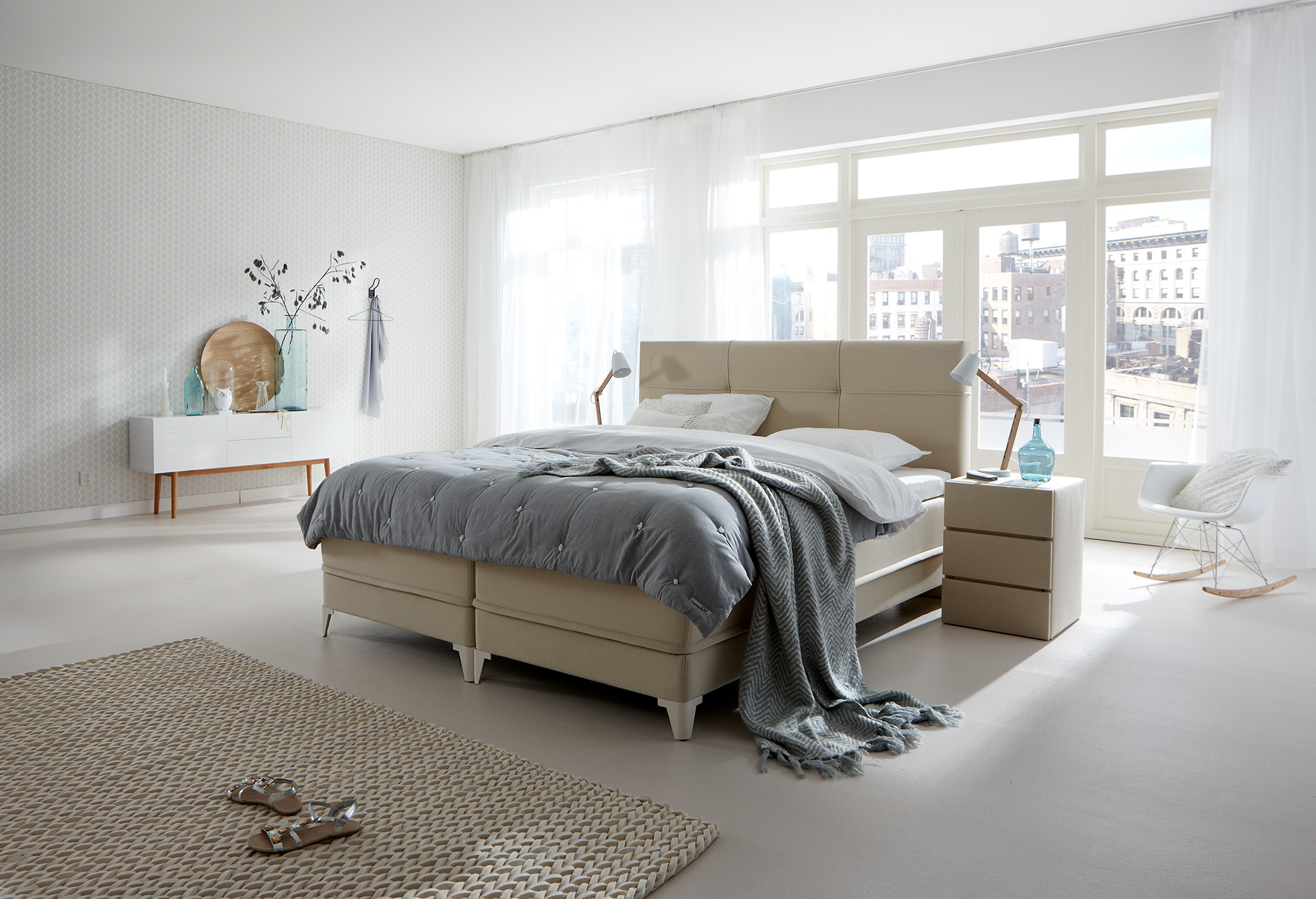 boxspring lifestyle 600 s swiss sense. Black Bedroom Furniture Sets. Home Design Ideas