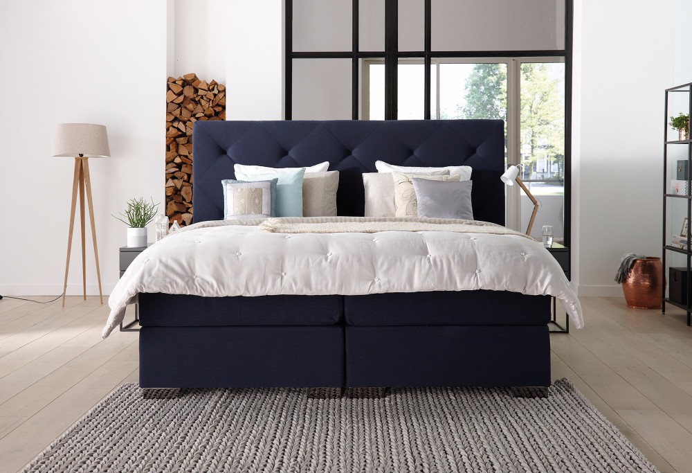 Blauwe boxspring Royal Superior