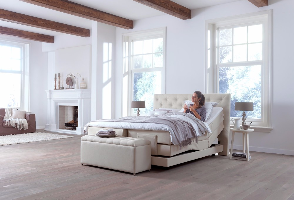 Beige Boxspring home 465-S