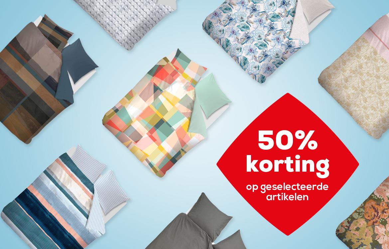 Dekbedovertrekken 50% korting | Swiss Sense