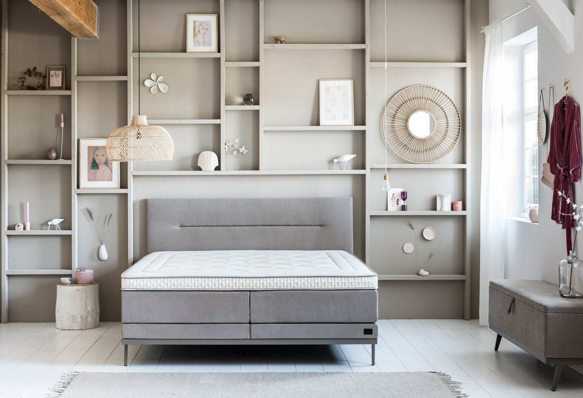 Boxspring Lifestyle by vtwonen Cinnamon | Swiss Sense