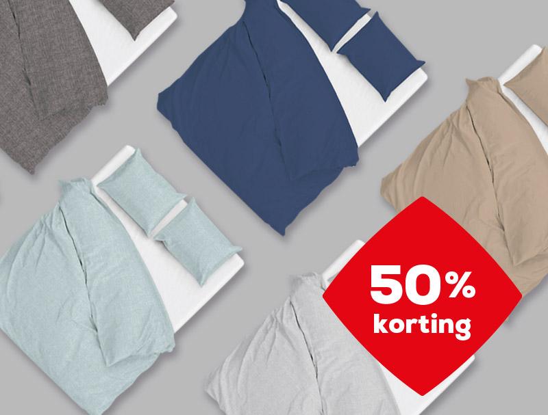 Voordeel 50% korting op dekbedovertrekken | Swiss Sense