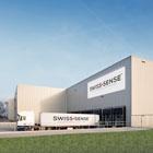 Vrachtwagen hoofdkantoor Swiss Sense