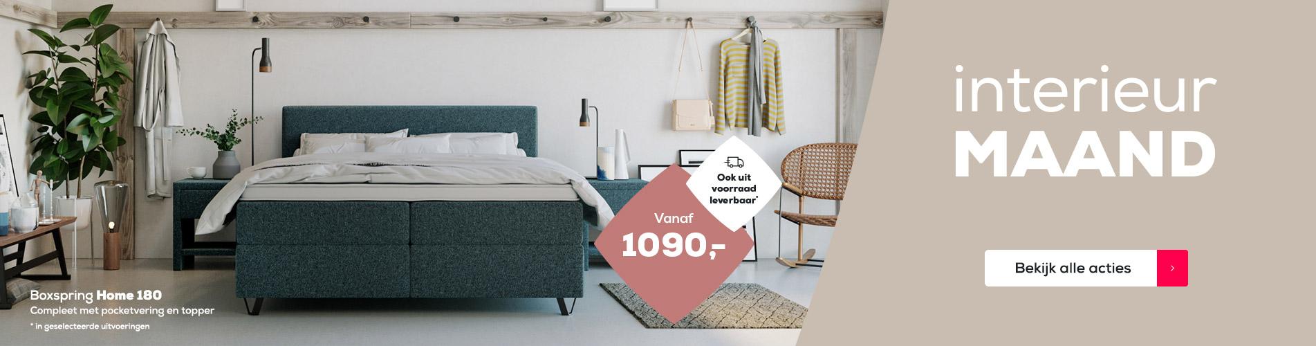 Boxspring Home 180 voor €1090,- | Uit voorraad leverbaar | Interieurmaand | Swiss Sense