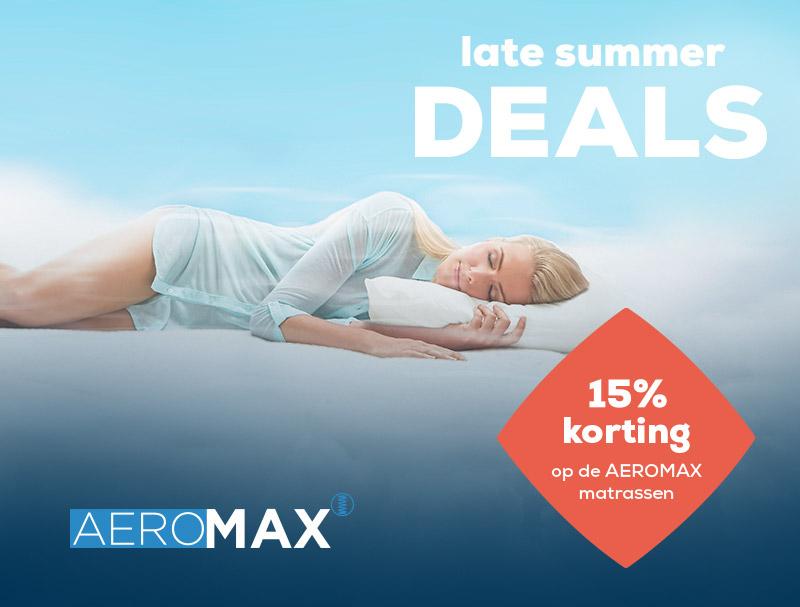15% korting op AEROMAX Matrassen   Late Summer Deals   Swiss Sense