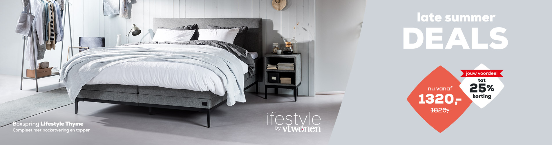 Boxspringcollectie Lifestyle tot 25% korting | Late Summer Deals | Swiss Sense