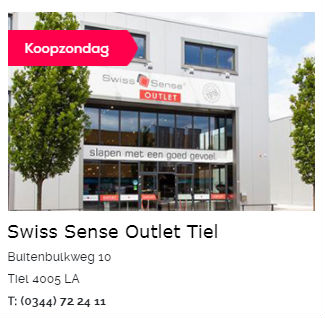Swiss Sense Boxspring Outlet Tiel
